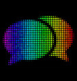 spectral colored dot forum chat icon vector image vector image