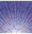 Starry Wave Blue Background vector image vector image
