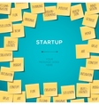 Start Up concept template with post it notes vector image vector image