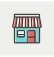 Store stall thin line icon vector image