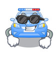 super cool police car in the shape character vector image