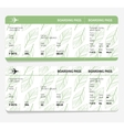 ticket boarding pass vector image vector image