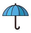 umbrella protection symbol vector image vector image