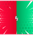 versus background in comic style vector image