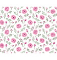 Vintage seamless background with field flowers and vector image vector image