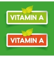 Vitamin A label set vector image vector image