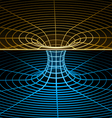wireframe symbol - wormhole vector image vector image