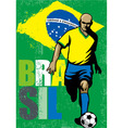 Brazilian football player vector image