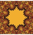 Oriental mandala frame border for text Copyspace vector image