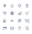 simple internet icons set universal internet vector image