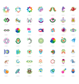 Set of abstract colorful design elements and icons vector image