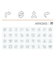 Arrows and direction icons vector image