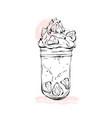 hand drawn graphic monstershake milkshake vector image