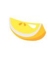 lemon piece issolated on white vector image