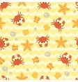 Seamless pattern with cute cartoon crabs vector image