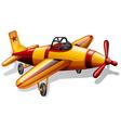 A vintage jetplane vector image vector image