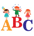 AbcKids vector image vector image