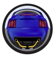 American customized muscle car a rear view Effect vector image vector image