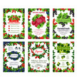 berry posters fresh natural garden berries vector image vector image