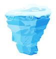 big blue iceberg vector image