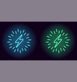 blue and green neon electric sign vector image vector image