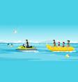 bunana boat vector image