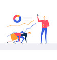 business competition - colorful flat design style vector image