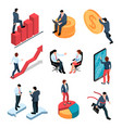 businesspeople isometric set vector image