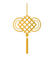 chinese golden pendant vector image vector image