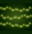 christmas lights for decoration vector image vector image