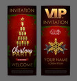 christmas poster with golden champagne glasses vector image vector image