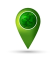 Clover location icon vector image