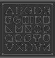 contour font minimalistic english alphabet vector image vector image