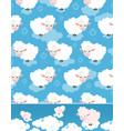 cute cartoon sheep pattern set vector image vector image