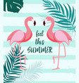 cute summer abstract background with pink flaming vector image vector image