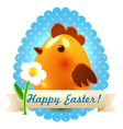 Easter greetings postcard vector image vector image