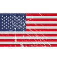 Flag of USA with old texture vector image vector image
