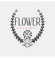 Flower Boutique insignia and labels for any use vector image vector image