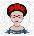frida kahlo portrait vector image vector image