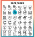 general data protection regulation gdprrgpd vector image
