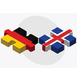 Germany and Iceland Flags vector image vector image