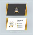 Golden and Black Business Card Design Template vector image vector image