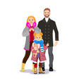 happy family dad mom and child vector image