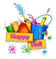 Happy Holi Background vector image vector image