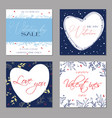 happy valentines day greeting cards trendy vector image vector image
