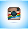 instagram logotype camera on pc screen instagram vector image vector image