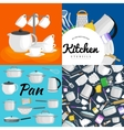 Kitchenware utensils set of vector image