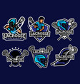lacrosse logo and badge set image vector image