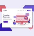 landing page template of trending keyword vector image