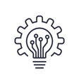 light bulb icon and gear lightbulb and cogwheel vector image